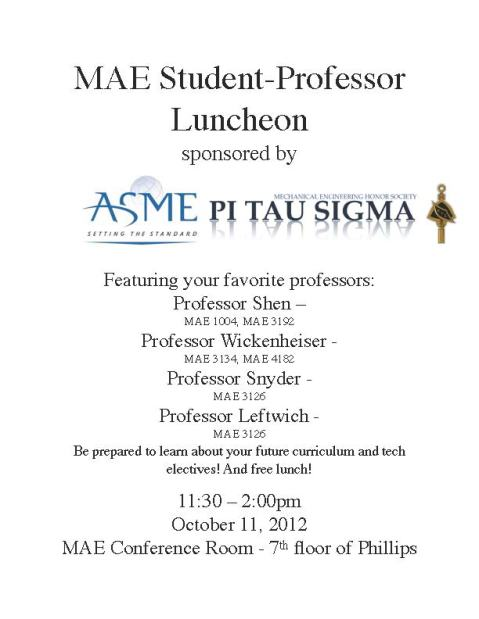 ASME Professor Luncheon